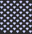 gradient diamond seamless pattern on dark vector image