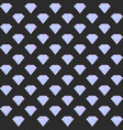gradient diamond seamless pattern on the dark vector image vector image