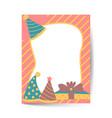 greeting and birthday invitation card layout vector image vector image