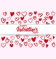 happy valentine s day text on the background of vector image vector image