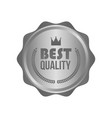 high quality metal silver sign round label vector image