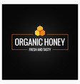 honey comb border organic honey sign on black vector image