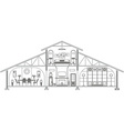 house1 vector image vector image