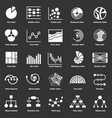 infographic chart types icons set grey vector image