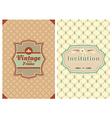 Invitation vintage retro cards vector image vector image
