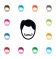 isolated hairstyle icon whiskers element vector image vector image