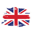 isolated united kingdom flag vector image vector image