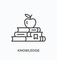knowledge line icon outline vector image