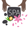 logo hand and accessories for spa salon vector image