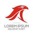 Logo The Animal Birds Eagle Hawk Crow Pigeons vector image