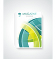 Magazine or brochure template design vector image vector image