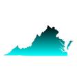 Map of Virginia vector image vector image