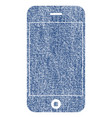 mobile phone fabric textured icon vector image vector image