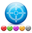 modern glossy target or crosshair icons in 6 vector image vector image