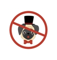 No dog entry icon vector image