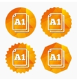 Paper size A1 standard icon Document symbol vector image vector image