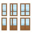 plastic doors 08 vector image vector image
