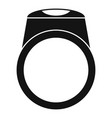 ring icon simple style vector image