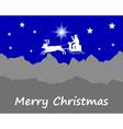 Santa Claus wishes Happy Christmas vector image