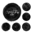 set grunge ink black color watercolor painting vector image