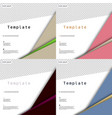 set of business presentation template from vector image vector image