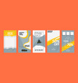 set templates for social media stories story vector image vector image