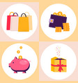 shopping bonus and discount - isolated flat vector image