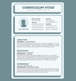 simple and clean resume template vector image vector image