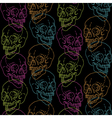 skull pattern black vector image