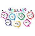 speech bubble line vector image vector image
