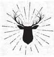 Symbol of deer vector image vector image