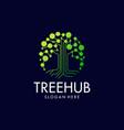 Tech tree digital logo design icon