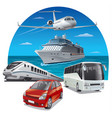 travel and journey vector image vector image
