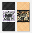 vertical banners for hair salon vector image vector image