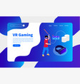 virtual reality and cloud gaming vector image