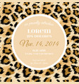 wedding invitation template fashionable leopard vector image