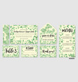 wedding invite invitation menu envelope rsvp vector image vector image