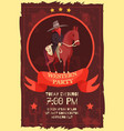 western party flat poster vector image
