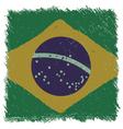 Flag of Brazil handmade square shape vector image