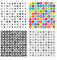 100 hacking icons set variant vector image vector image