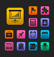 Office icon set gummy theme vector | Price: 1 Credit (USD $1)