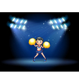 A stage with a young cheerdancer at the center vector image vector image