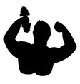 abstract symbol of body builder vector image