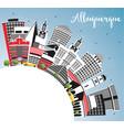 albuquerque new mexico city skyline with color vector image vector image