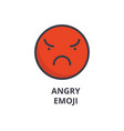 angry emoji line icon sign vector image