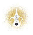 arabic coffee on golden glitter abstract vector image vector image
