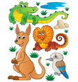 australian wildlife fauna set 2 vector image