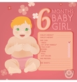 baby growth infographic vector image vector image