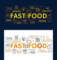 banners with fast food vector image