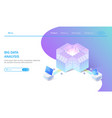 big data isometric abstract 3d hosting server or vector image vector image